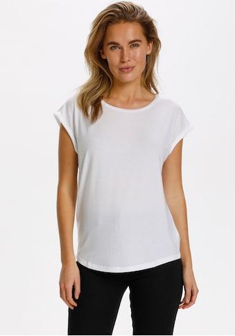 Saint Tropez Rundhalsshirt, Basic in NEUEN FARBEN, in LYOCELL Qualität kaufen