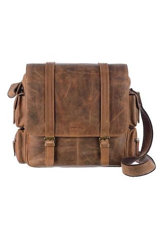 GreenLand Nature Messenger Bag »Montenegro«, aus echtem Leder mit praktischer Einteilung kaufen