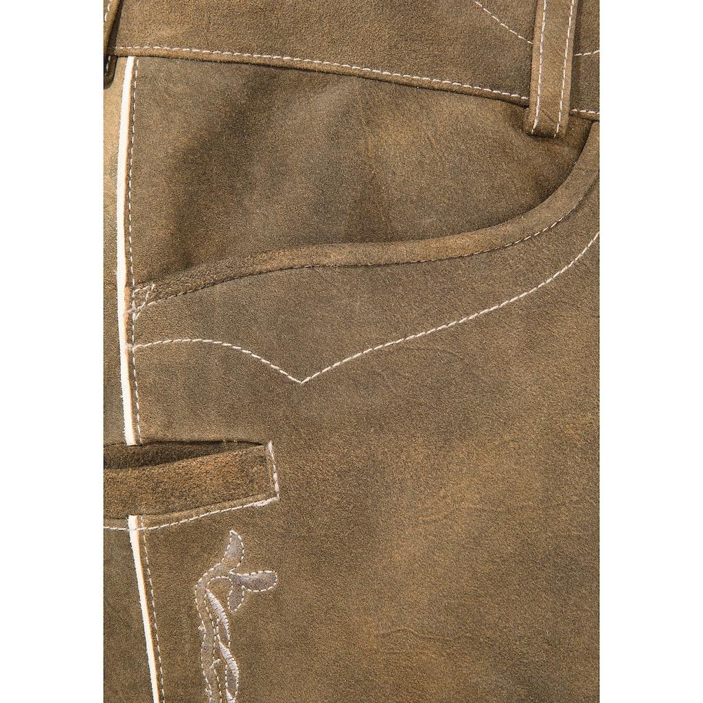 Spieth & Wensky Trachtenhose, im Used Look
