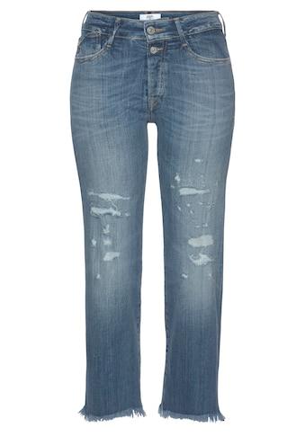 Le Temps Des Cerises Slim-fit-Jeans »Precious«, mit ausgefranster Kante am Saumabschluss kaufen