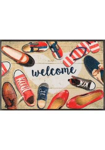wash+dry by Kleen-Tex Fussmatte »Shoes welcome«, rechteckig, 7 mm Höhe,... kaufen