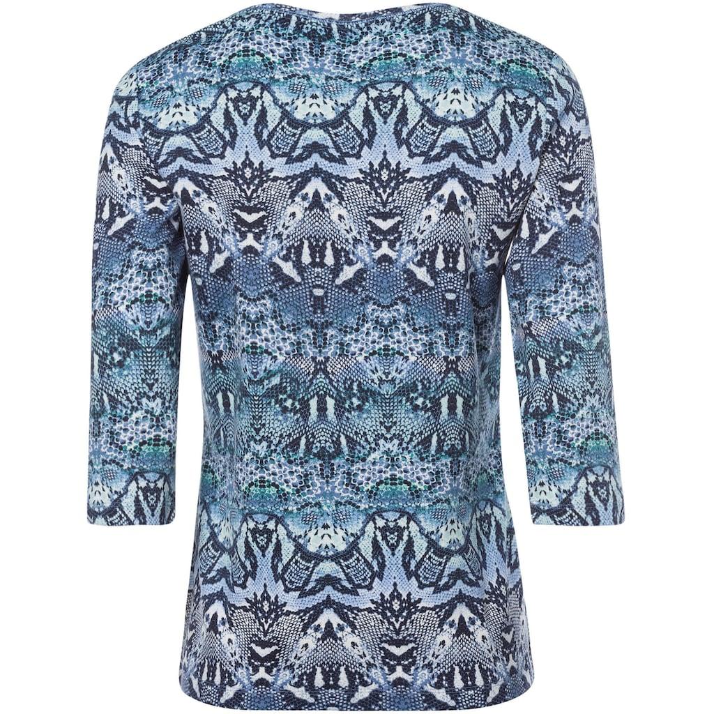 Olsen Print-Shirt, Rundhalsshirt mit Schlangen-Druck