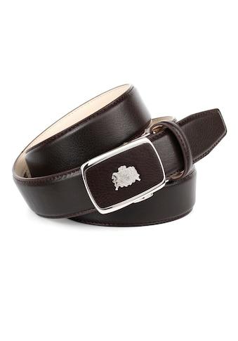 Anthoni Crown Ledergürtel, Eleganter Gürtel mit auffälliger Schliesse kaufen