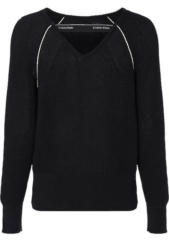 Calvin Klein Rundhalspullover »COILED COTTON V BACK SWEATER« kaufen