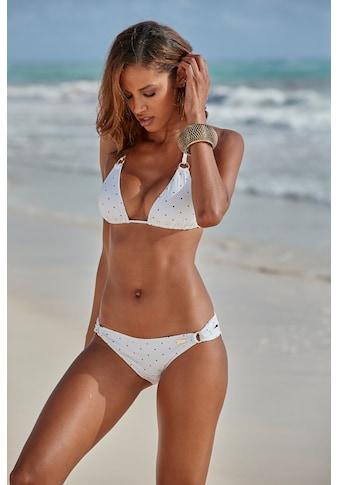 LASCANA Bikini-Hose »Sparkel«, mit Zierringen und Tupfenmuster kaufen