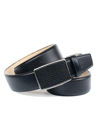 Anthoni Crown Ledergürtel, Solider Jeans-Gürtel mit markanter Prägung kaufen