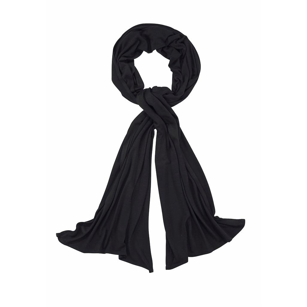 J.Jayz Modeschal, Jersey Schal aus weichem Material, 4seasons Allrounder