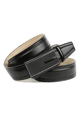 Anthoni Crown Ledergürtel, Handgenähter Gürtel mit stilvoller Automatik-Schliesse in... kaufen