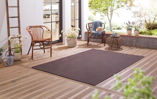Outdoor-Teppich in Braun