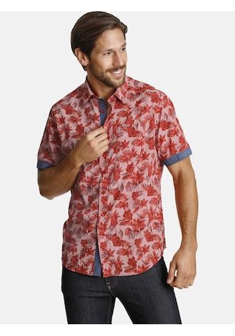 SHIRTMASTER Kurzarmhemd »hummingbirdheaven«, Ärmelaufschläge in Kontrast kaufen