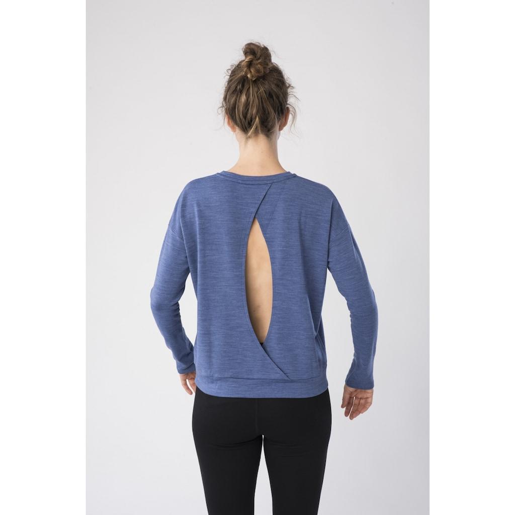 SUPER.NATURAL Sweatshirt »W JONSER SWEATER«, pflegeleichter Merino-Materialmix