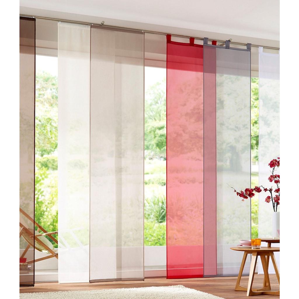 my home Schiebegardine »Xanten«, Fertiggardine, inkl. Beschwerungsstangen, transparent, Breite: 57 cm