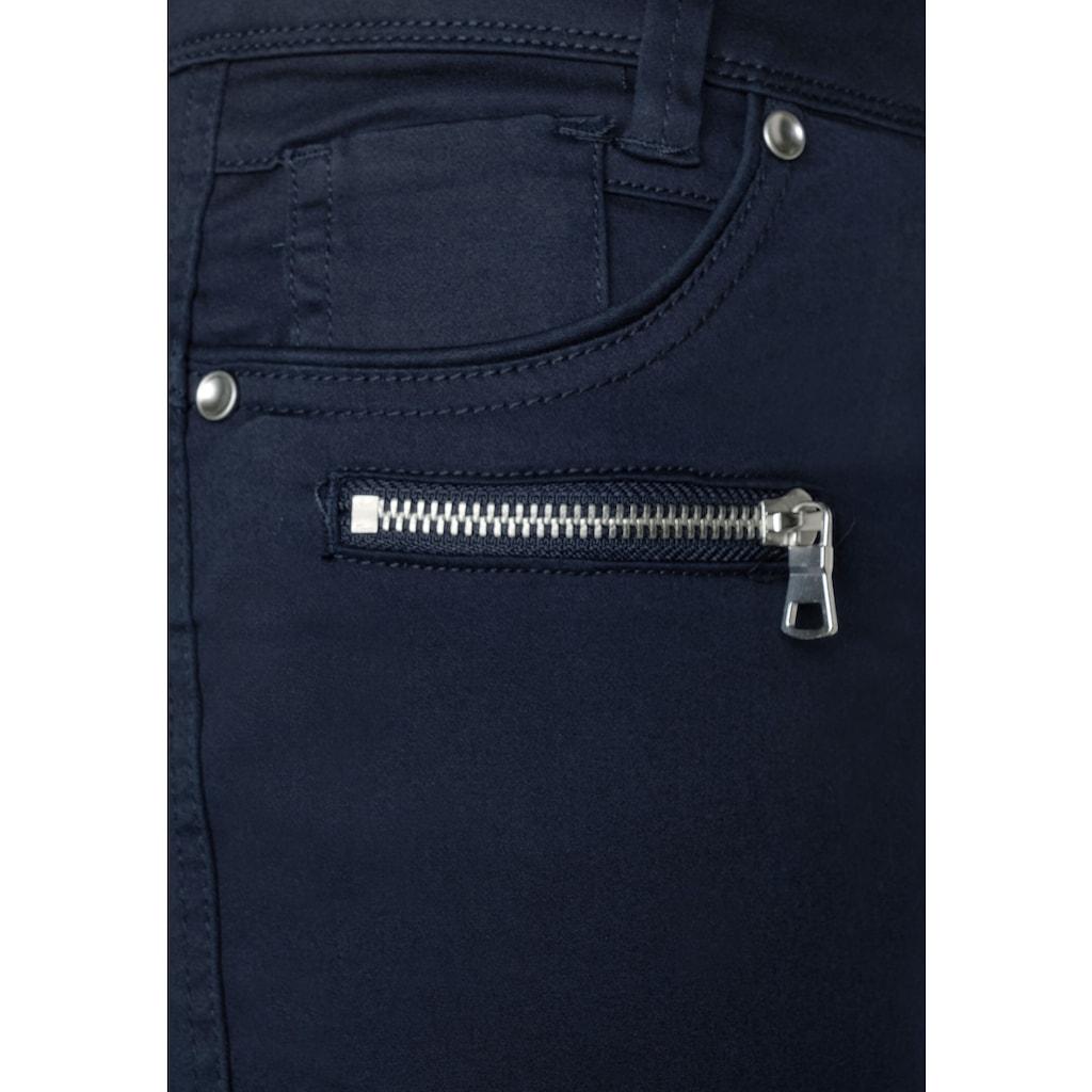 STREET ONE 3/4-Hose, mit Zipper-Detail
