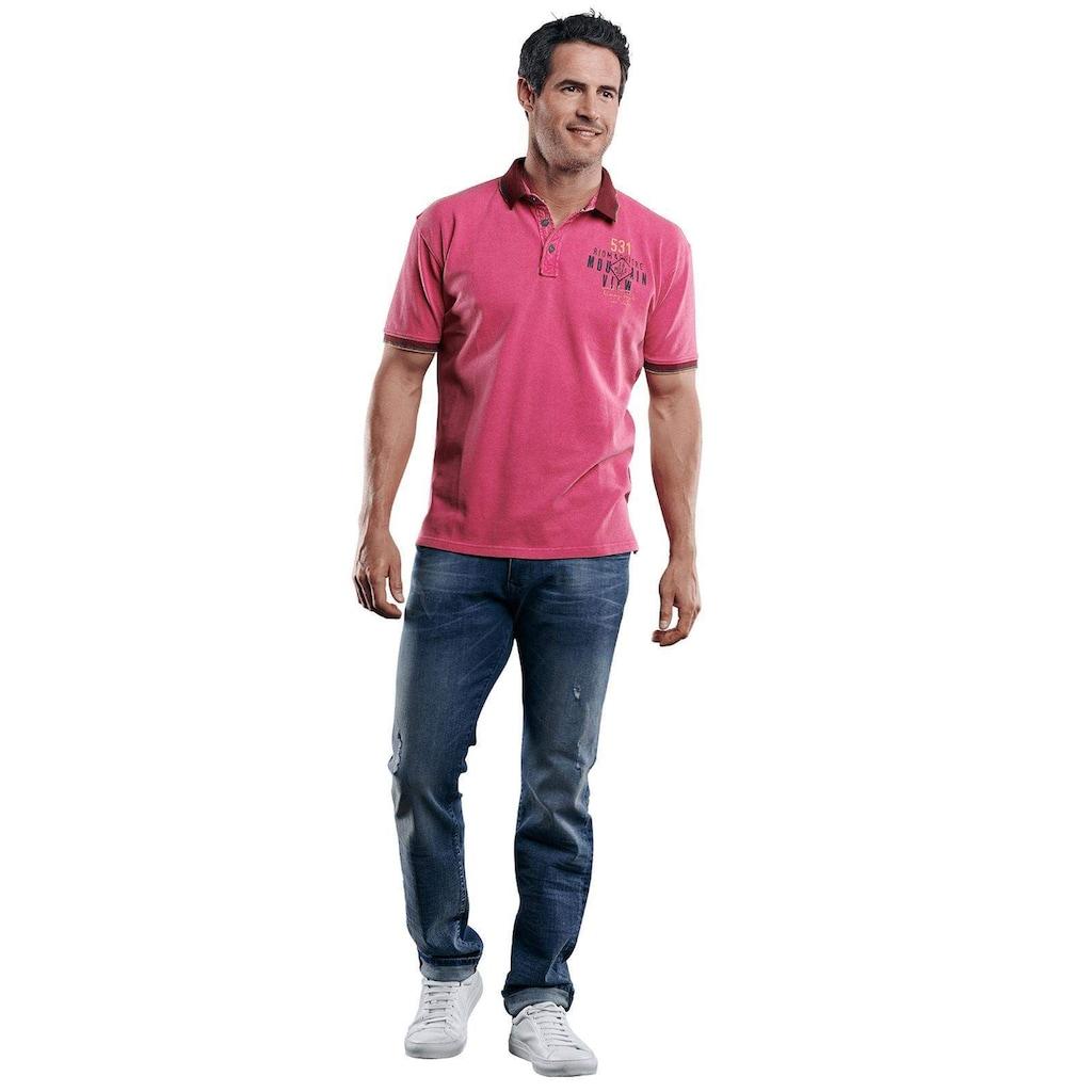 Engbers Poloshirt mit Konrasteffekten