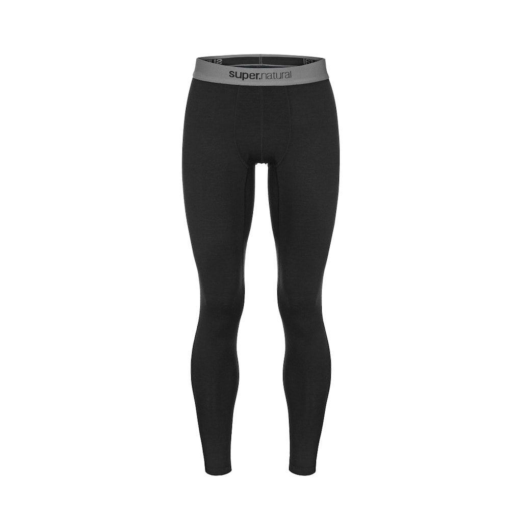 SUPER.NATURAL Funktionstights »M BASE TIGHT 175«, pflegeleichter Merino-Materialmix