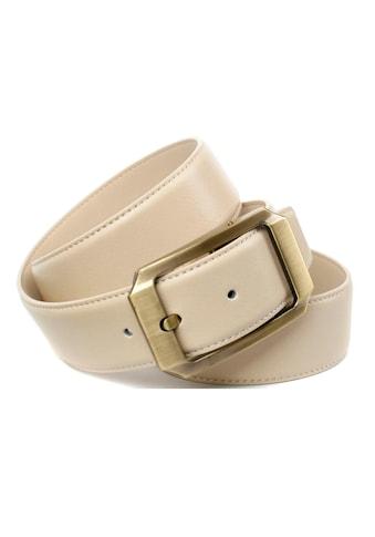 Anthoni Crown Ledergürtel, mit altmesssingfarbener Schliesse kaufen