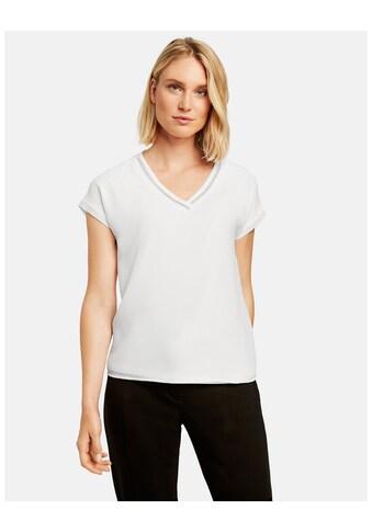Taifun Rundhalsshirt »Shirt mit Shiffon - Overlayer« kaufen