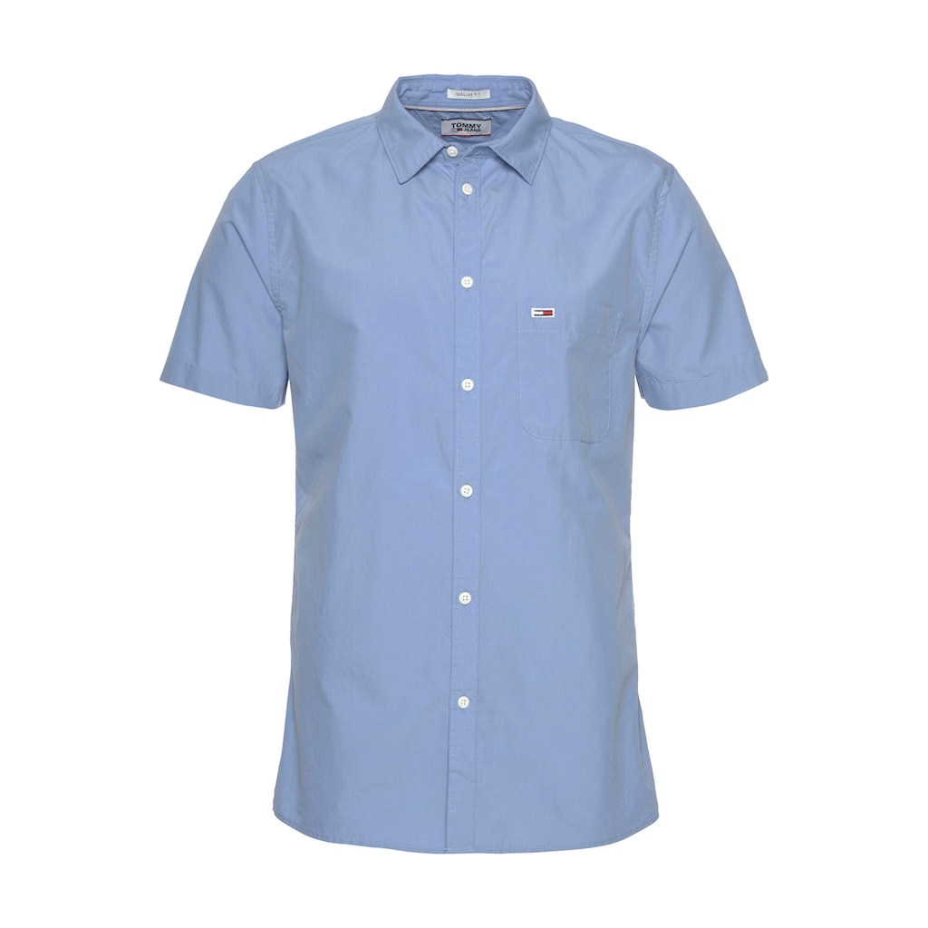 Tommy Jeans Kurzarmhemd »TJM S/S SOLID POPLIN SHIRT«