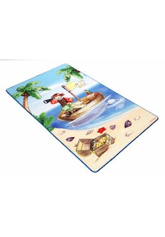 Böing Carpet Kinderteppich »Lovely Kids LK-1«, rechteckig, 2 mm Höhe, Motiv Pirat kaufen