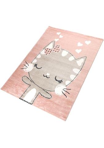 Living Line Kinderteppich »Meow«, rechteckig, 12 mm Höhe, Spielteppich,... kaufen