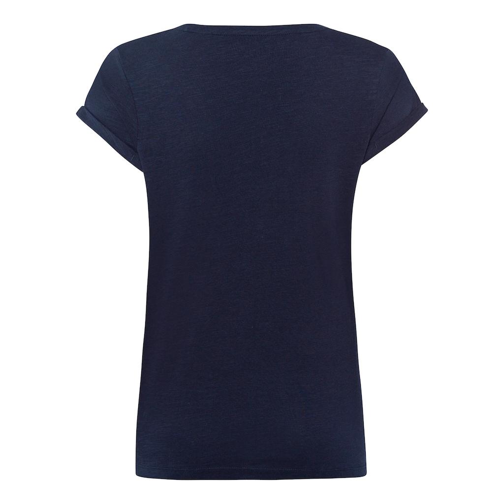 edc by Esprit Print-Shirt, mit kurzen Ärmeln mit Umschlagsaum