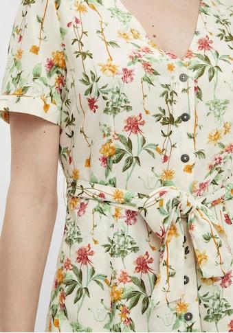 Object Druckkleid, mit Blumenprint und Bindeband in der Taille kaufen
