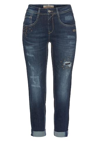 GANG Relax-fit-Jeans »AMELIE CROPPED«, mit doppelter rechter Gesässtasche und Glitzer... kaufen
