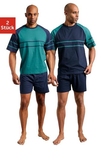 le jogger® Shorty, (2 Stück), mit aufgesetzten Streifen kaufen