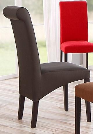 Stühle, Home affaire, »Rito«, wahlweise mit Echtleder- oder Kunstlederbezug (2er, 4er, 6er Set)