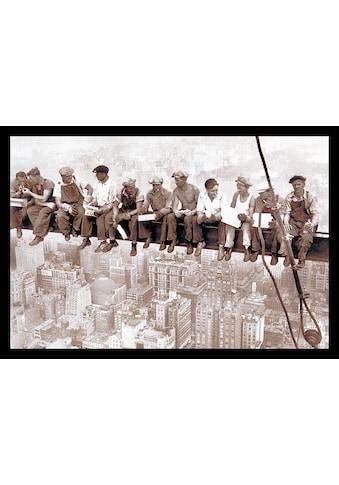 Home affaire Wandbild »Eating above Manhattan«, mit Rahmen kaufen