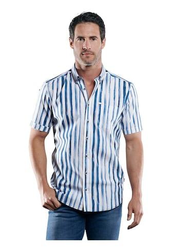 Engbers Softes Baumwoll-Popelinhemd mit Streifen-Print kaufen