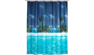 WENKO Duschvorhang »Palmenstrand«, Breite 180 cm, Höhe 200 cm kaufen