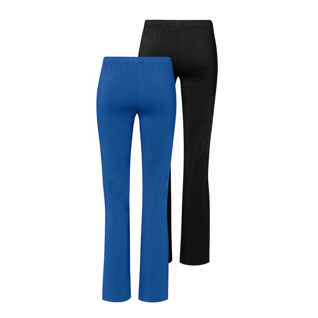 Vivance Jazzpants, (2er-Pack), mit leicht ausgestelltem Bein