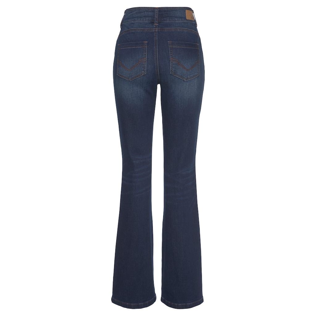 H.I.S Bootcut-Jeans »High-Waist«, Nachhaltige, wassersparende Produktion durch OZON WASH