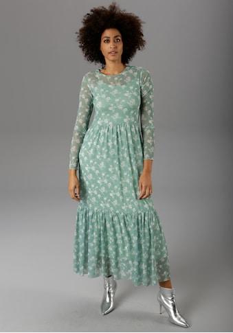 Aniston CASUAL Maxikleid, mit zarten Blumendruck - NEUE KOLLEKTION kaufen