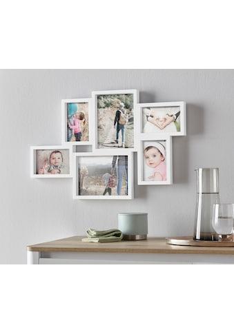 my home Bilderrahmen Collage, für 6 Bilder, Fotorahmen, weiss kaufen