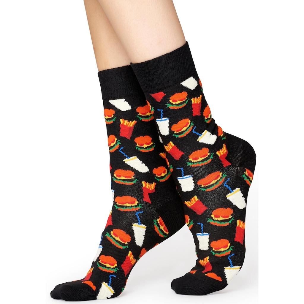 Happy Socks Socken »Burger«, mit Hamburger-Muster