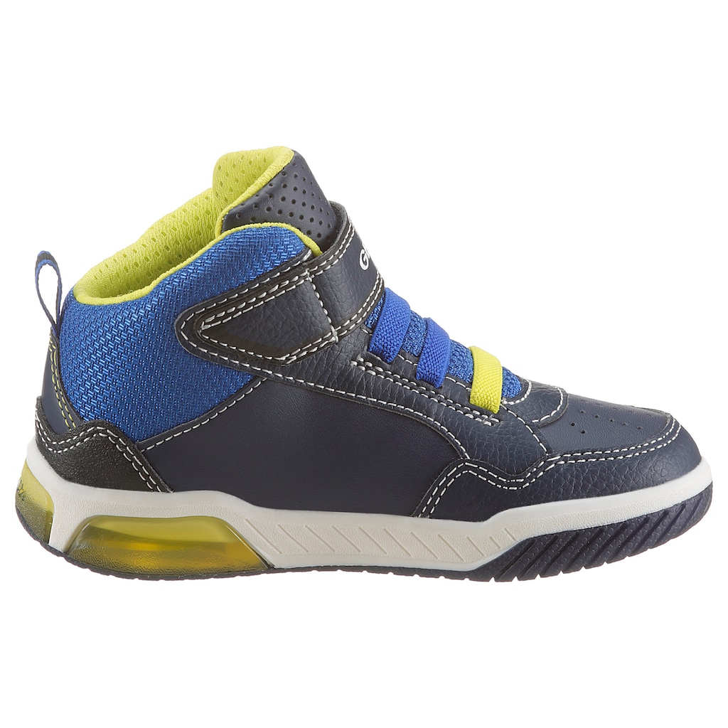 Geox Kids Sneaker »Blinkschuh INEK BOY«, mit Gummizug