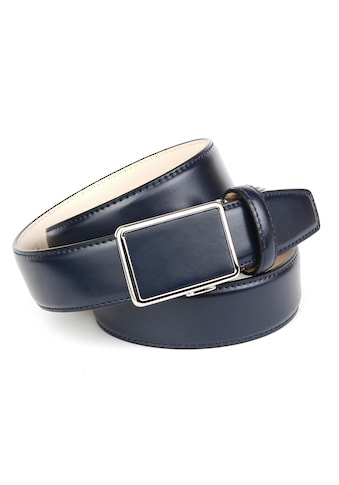 Anthoni Crown Ledergürtel, für Anzüge in Dunkelblau kaufen