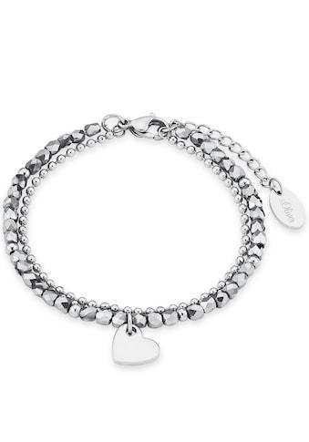 s.Oliver Armband »Herz, 2018344«, mit Glassteinen kaufen