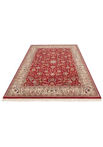 DELAVITA Orientteppich »Aras«, rechteckig, 12 mm Höhe, handgeknüpft, mit Fransen,... kaufen