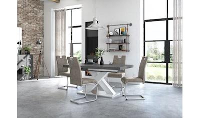 Esstisch »Komfort C«, mit X-Gestell in weiss und mit Auszugsfunktion, Breite 160-260 cm kaufen