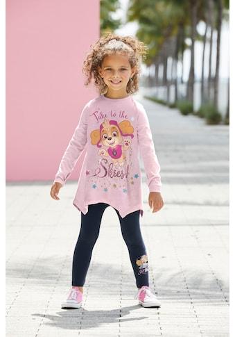 PAW PATROL Shirt & Leggings »TAKE TO THE SKIES!«, Glitzerdruck mit SKYE kaufen