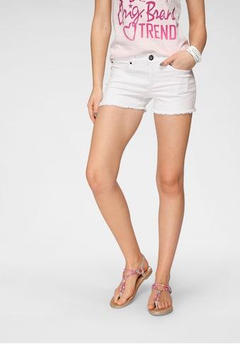 Arizona Jeansshorts »mit Fransensaum« kaufen