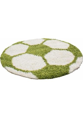 Ayyildiz Kinderteppich »Fun 6001«, rund, 30 mm Höhe, Fussball Design kaufen