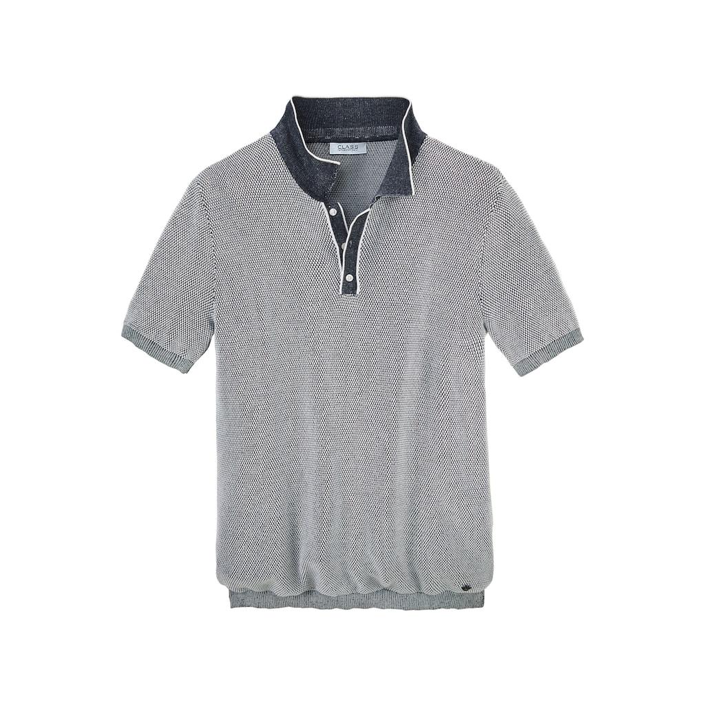 Class International Poloshirt, In Strickqualität
