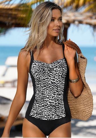 LASCANA Badeanzug »Clara«, mit gerafftem Einsatz kaufen