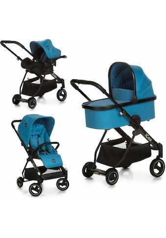 iCoo Kombi-Kinderwagen »Acrobat XL Plus Trio Set Diamond Saphire«, 15 kg, ; Kinderwagen kaufen
