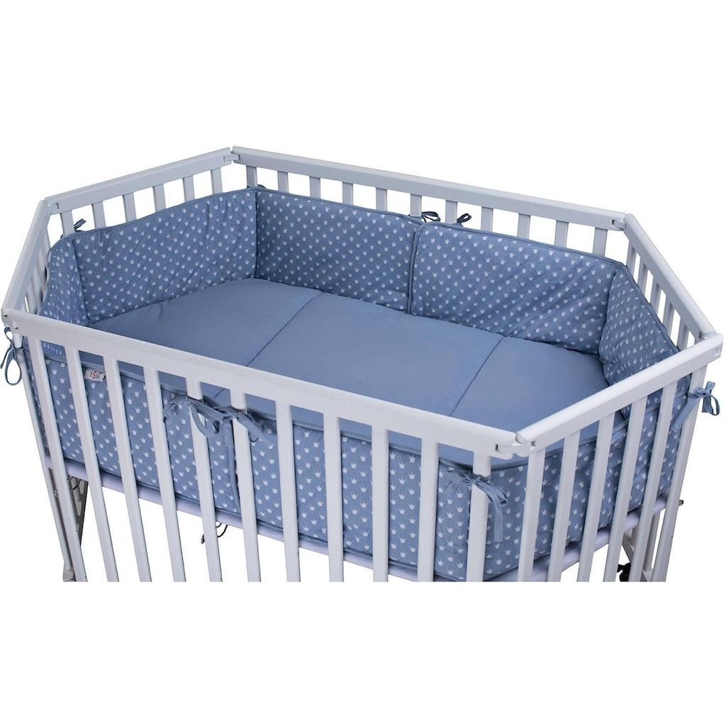 tiSsi® Laufgittereinlage »Kronen blau«, Made in Europe