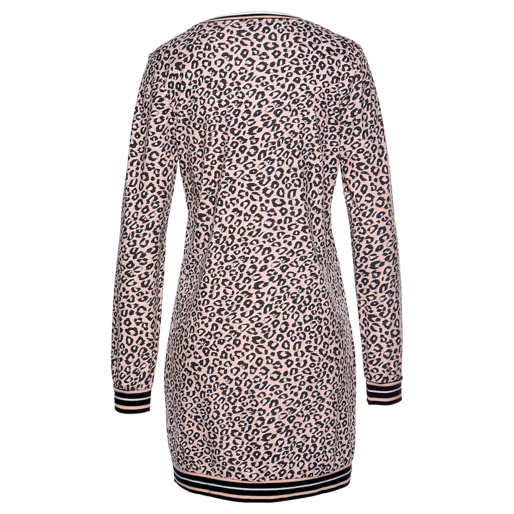 s.Oliver Bodywear Nachthemd, mit Leo Allover-Print